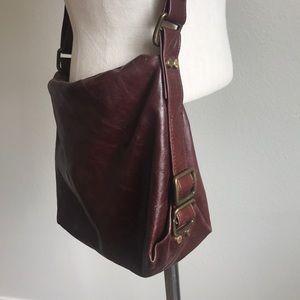 Latico Leather Crossbody Wallet Interior